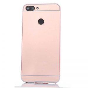Металлический бампер с акриловой вставкой с зеркальным покрытием для Xiaomi Redmi 6 (Rose)