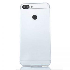 Металлический бампер с акриловой вставкой с зеркальным покрытием для Xiaomi Redmi 6 (Silver)