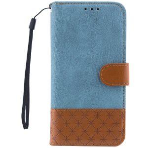 Чехол-книжка Diary с визитницей и функцией подставки  для Samsung J330 Galaxy J3 Pro / J3 2017 (Голубой)