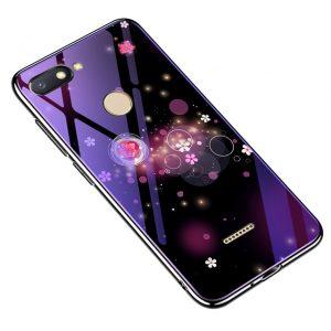 TPU+Glass чехол Fantasy с глянцевыми торцами  для Xiaomi Redmi 6 (Bubbles with flowers)