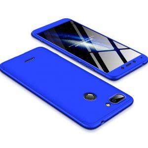 Матовый пластиковый чехол GKK 360 градусов для Xiaomi Redmi 6 (Синий)