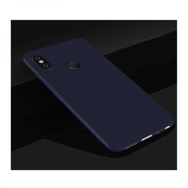 Матовый силиконовый чехол для Xiaomi Redmi Note 6 Pro (Blue)