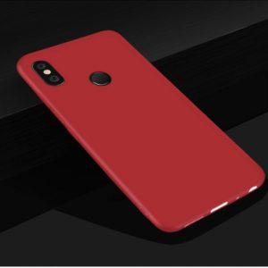 Матовый силиконовый TPU чехол на Xiaomi Redmi 6 Pro / Mi A2 Lite (Red)