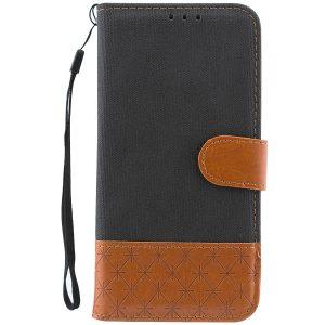 Чехол-книжка Diary с визитницей и функцией подставки  для Xiaomi Redmi 6A (Черный)