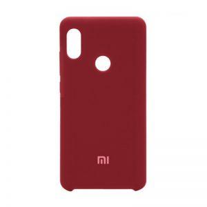 Оригинальный силиконовый чехол для Xiaomi Redmi 6 Pro / Mi A2 Lite (Red)