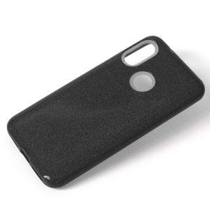 Cиликоновый (TPU+PC) чехол Shine с блестками для Xiaomi Redmi Note 7 / 7 Pro (Черный)