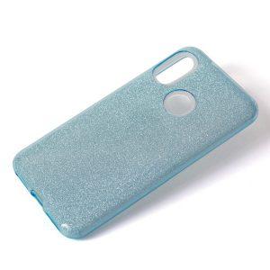 Cиликоновый (TPU+PC) чехол Shine с блестками для Samsung M20 (Голубой)