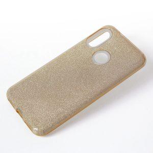 Cиликоновый (TPU+PC) чехол Shine с блестками для Xiaomi Redmi 7 (Золотой)