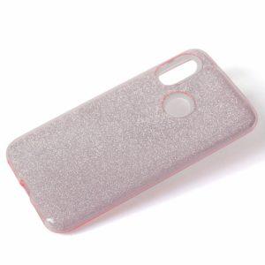 Cиликоновый (TPU+PC) чехол Shine с блестками для Xiaomi Redmi Note 7 / 7 Pro (Розовый)
