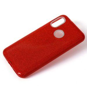 Cиликоновый (TPU+PC) чехол Shine с блестками для Xiaomi Redmi 7 (Красный)
