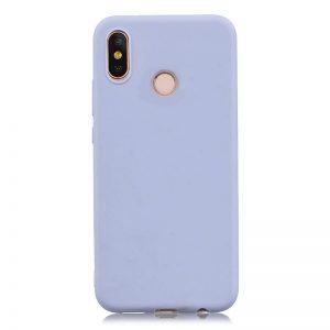 Матовый силиконовый (TPU) чехол для Huawei P Smart 2019 (Светло-голубой)