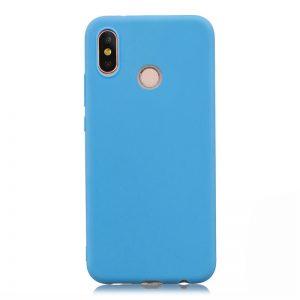 Матовый силиконовый TPU чехол на Xiaomi Redmi S2 (Голубой)