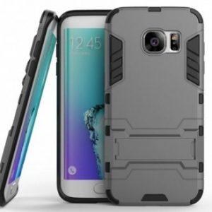 Ударопрочный чехол Transformer с подставкой для Samsung G930F Galaxy S7 (Gun Metal)