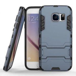 Ударопрочный чехол Transformer с подставкой для Samsung G930F Galaxy S7 (Metal slate)