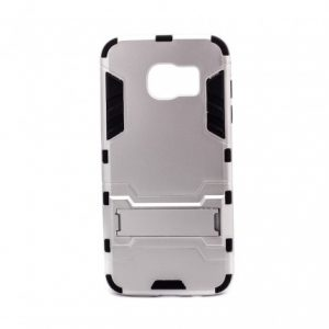 Ударопрочный чехол Transformer с подставкой для Samsung G935F Galaxy S7 Edge (Silver)