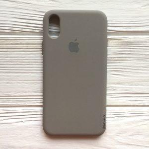 Оригинальный силиконовый чехол (Silicone case) для Iphone X / XS (Cocoa) №32