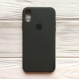 Оригинальный силиконовый чехол (Silicone case) для Iphone X / XS (Dark Brown) №19