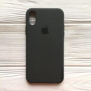 Оригинальный чехол Silicone Case с микрофиброй для Iphone X / XS №19 (Dark Brown)