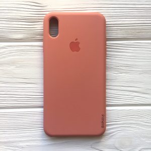 Оригинальный чехол Silicone Case с микрофиброй для Iphone XS Max №25 (Flamingo)