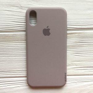 Оригинальный силиконовый чехол (Silicone case) для Iphone X / XS (Lavender) №34