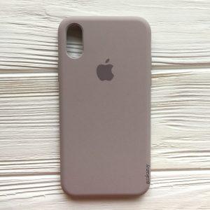 Оригинальный чехол Silicone Case с микрофиброй для Iphone XS Max №34 (Lavender)