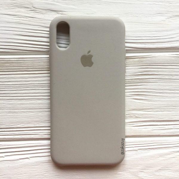 Оригинальный чехол Silicone Case с микрофиброй для Iphone XS Max №16 (Light cocoa)