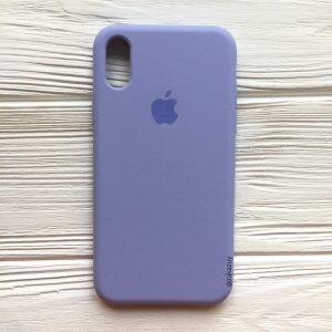 Оригинальный чехол Silicone Case с микрофиброй для Iphone X / XS №39 (Lilac)