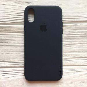 Оригинальный чехол Silicone Case с микрофиброй для Iphone XR №9 (Navy Blue)
