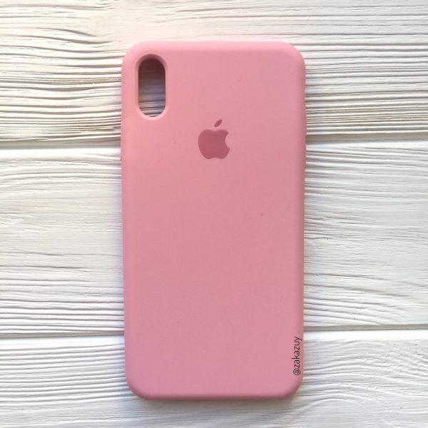 Оригинальный чехол Silicone Case с микрофиброй для Iphone XR №35 (Pink)