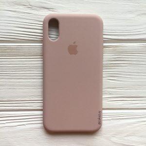 Оригинальный чехол Silicone Case с микрофиброй для Iphone XR №8 (Powder)