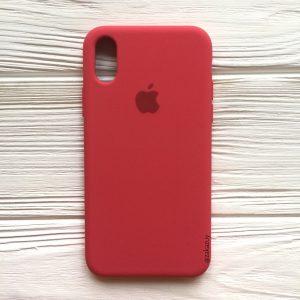 Оригинальный силиконовый чехол (Silicone case) для Iphone X / XS (Rose) №40