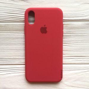 Оригинальный чехол Silicone Case с микрофиброй для Iphone X / XS  №40 (Rose)