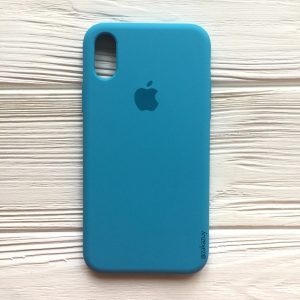 Оригинальный чехол Silicone Case с микрофиброй для Iphone X / XS №20 (Royal Blue)
