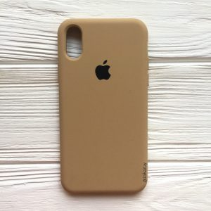 Оригинальный чехол Silicone Case с микрофиброй для Iphone XR №29 (Sand)