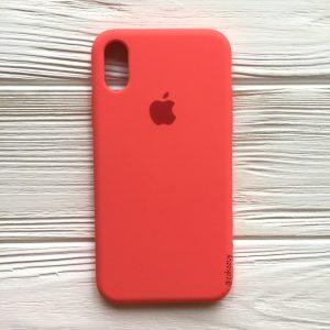 Оригинальный силиконовый чехол (Silicone case) для Iphone X / XS (Ultra Coral) №31