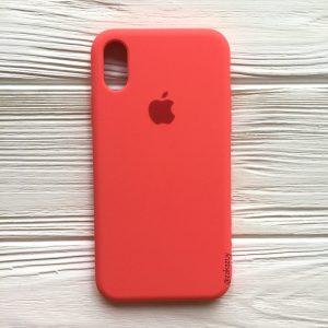 Оригинальный чехол Silicone Case с микрофиброй для Iphone X / XS №31 (Ultra Coral)