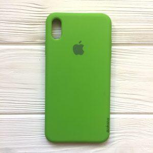 Оригинальный чехол Silicone Case с микрофиброй для Iphone XR №27 (Ultra Green)