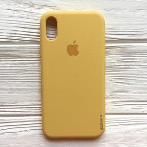 Оригинальный силиконовый чехол (Silicone case) для Iphone X / XS (Yellow) №13