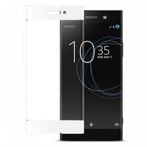Защитное стекло 3D Full Cover для Sony XA1 / XA1 Dual на весь экран – White