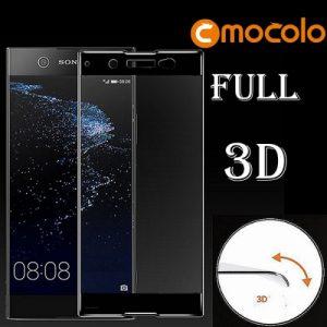 Защитное стекло 3D Full Cover Mocolo (на весь экран) для Sony XA1 Ultra (Black)