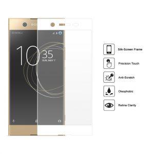 Защитное стекло 3D Full Cover для Sony XA1 Ultra на весь экран – White