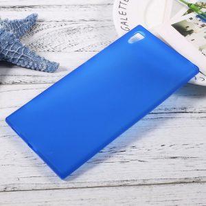 Матовый силиконовый TPU чехол на Sony Xperia XA / XA Dual (Blue)