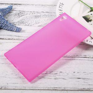 Матовый силиконовый чехол для Sony Xperia XA / XA Dual (Pink)