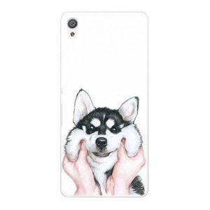 Cиликоновый (TPU) чехол (накладка) с принтом с собачкой для Sony Xperia XA / XA Dual (Dog)