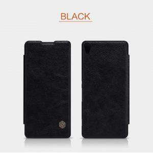 Черный чехол-книжка с экокожи Nillkin Qin Series для Sony Xperia XA / XA Dual (Black)