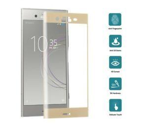 Защитное стекло 3D Full Cover для Sony Xperia XZ1 / XZ1 Dual на весь экран – Gold