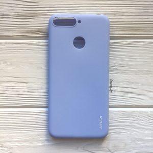 Матовый силиконовый TPU чехол на Huawei Y6 Prime 2018 / Honor 7A Pro / Honor 7C (Светло-голубой)