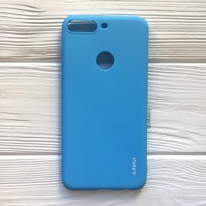 Матовый силиконовый TPU чехол на Huawei Y7 Prime 2018 / Honor 7C Pro (Голубой)