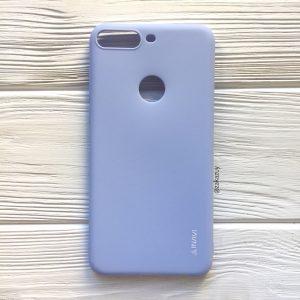 Матовый силиконовый TPU чехол на Huawei Y7 Prime 2018 / Honor 7C Pro (Светло-голубой)