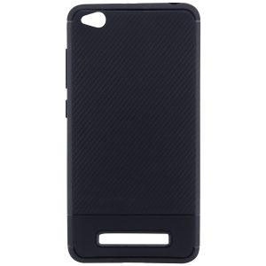 Cиликоновый (TPU) чехол Carbon  для Xiaomi Redmi 4a (Черный)